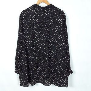 Catherines Tops - Catherines polka dot black and tan top 3X